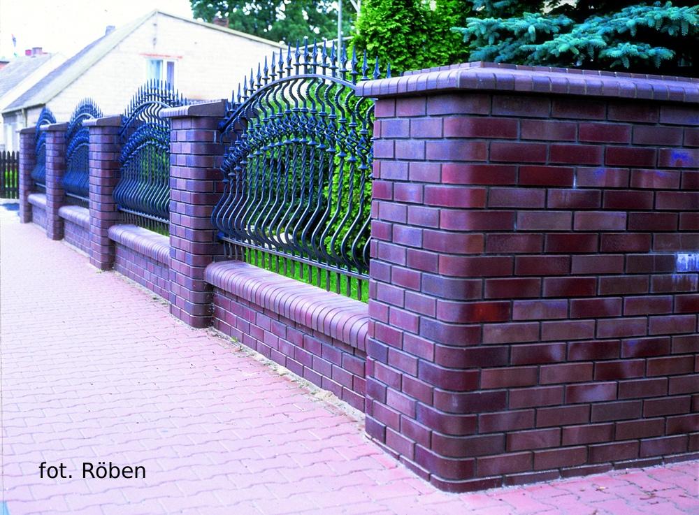 ogrodzenie z cegły klinkierowej